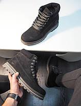 Мужские ботинки Timberland черные топ реплика, фото 3