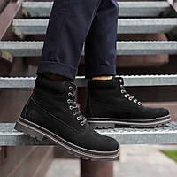 Мужские ботинки Timberland черные топ реплика