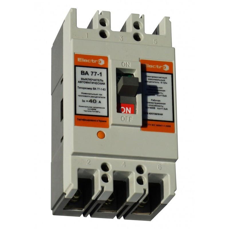 Выключатель автоматический ВА 77-1-63 3П 32А 8-12in icu 15кА 380В