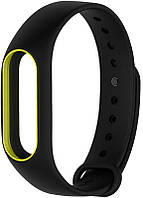 Ремешок UWatch Double Color Replacement Silicone Band For Xiaomi Mi Band 2 Black/Yellow Line