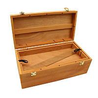 Пенал для художественных материалов, деревянный (вяз), (40х20х15см), D.K.ART & CRAFT
