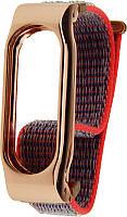 Ремешок UWatch Magnetic Wristband Custom Nylon Watch Strap For Xiaomi Mi Band 2 Rose Red, фото 1