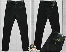 Джинсы женские утеплённые классические с высокой посадкой LadyN чёрный графит