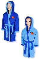 Махровый халат для мальчиков Superman оптом, 2/3-5/6 лет.