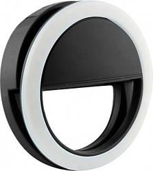 Подсветка для телефона селфи-кольцо SmartTech XJ-01 (от батареек) черный (11637)