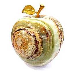 Яблоко из натурального оникса 12 см