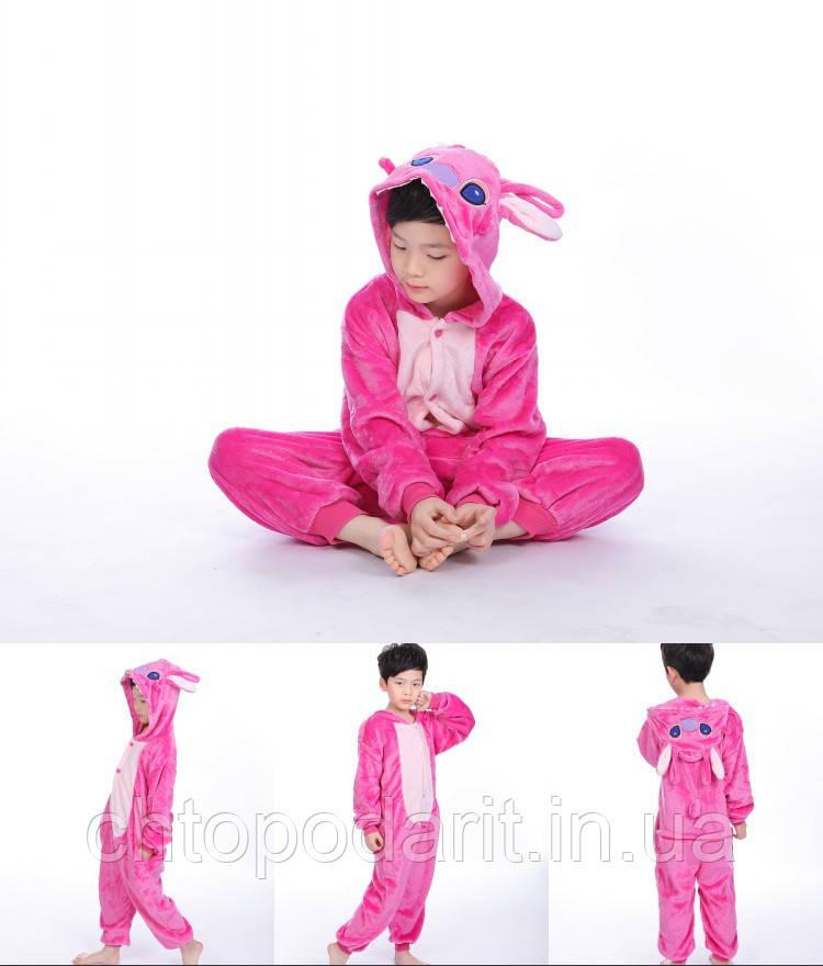 "Пижама Кигуруми детский  Lilo & Stitch  ""Ангел"" Код 10-4128"