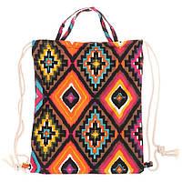 Сумка-рюкзак с принтом, тканевая женская сумка, сумка рюкзак с этническим принтом  СС-2519-00