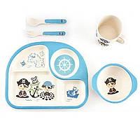 Набор детской бамбуковой посуды Пират