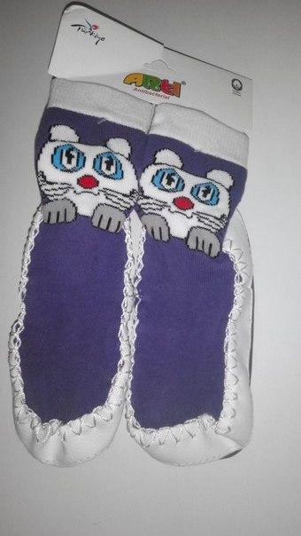 Носки-тапочки  махровые  для девочки  24\25 (16 см)