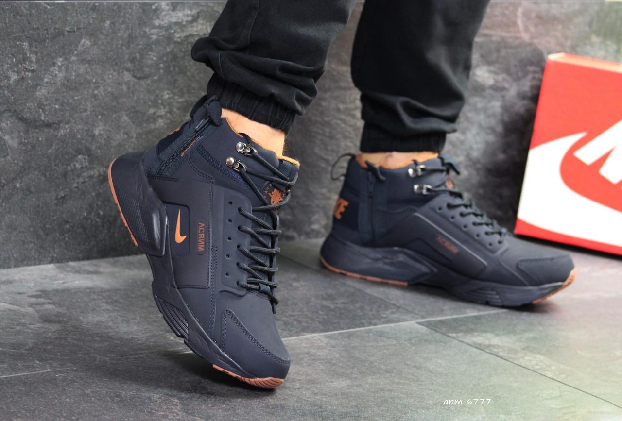 90f4c615b5a055 Зимние мужские кроссовки Nike Air Huarache хуарачи с мехом / чоловічі  кросівки найк (Топ реплика