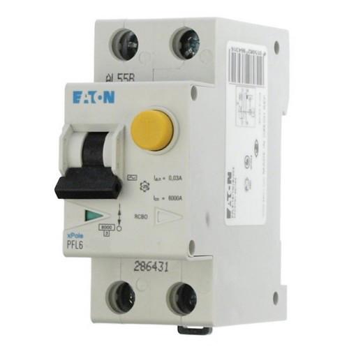 Дифференциальный автомат EATON PFL6-10А 1N C 30 мА