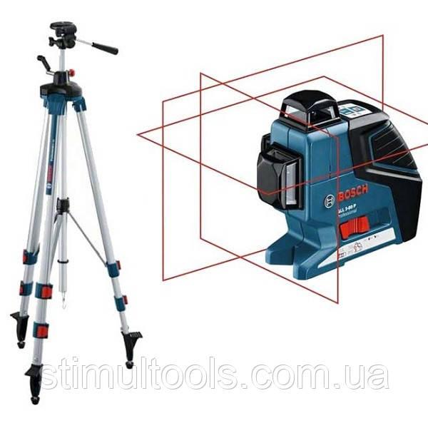 Нивелир лазерный Bosch GLL 3-80 P + BT 250
