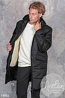 Зимнее пальто мужское на синтепоне и меху,размеры 46, 48, 50, 52.