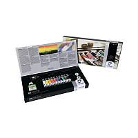 Набор масляных красок VAN GOGH, Combiset, картон, 10*20 мл +(медиум, масленка, кисточки - 2шт), Royal Talens