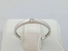 Золотое кольцо с фианитом. Артикул 111434_2Б 16,5 17