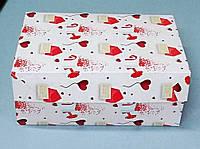 Коробка для кондитерских изделий 295х195х100 (принт письмо), фото 1