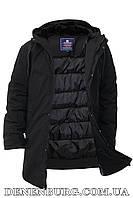 Куртка зимняя мужская REMAIN 19-7728 чёрная, фото 1