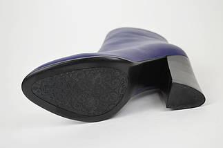 Шкіряні сині черевики Mallanee 08-5 38 Розмір, фото 3
