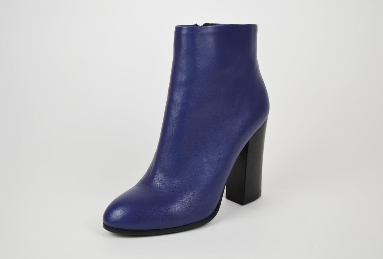 Шкіряні сині черевики Mallanee 08-5 38 Розмір