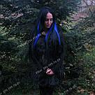 Трессы на 1 клипсе, цветные прядки синие, фото 6