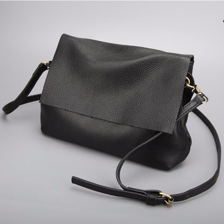 3ad8f7ccc527 Женская маленькая сумка черная из мягкой натуральной кожи опт купить ...