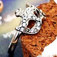 """Кольцо """"Masque d'or"""" покрытие серебро с кристаллами swarovski"""