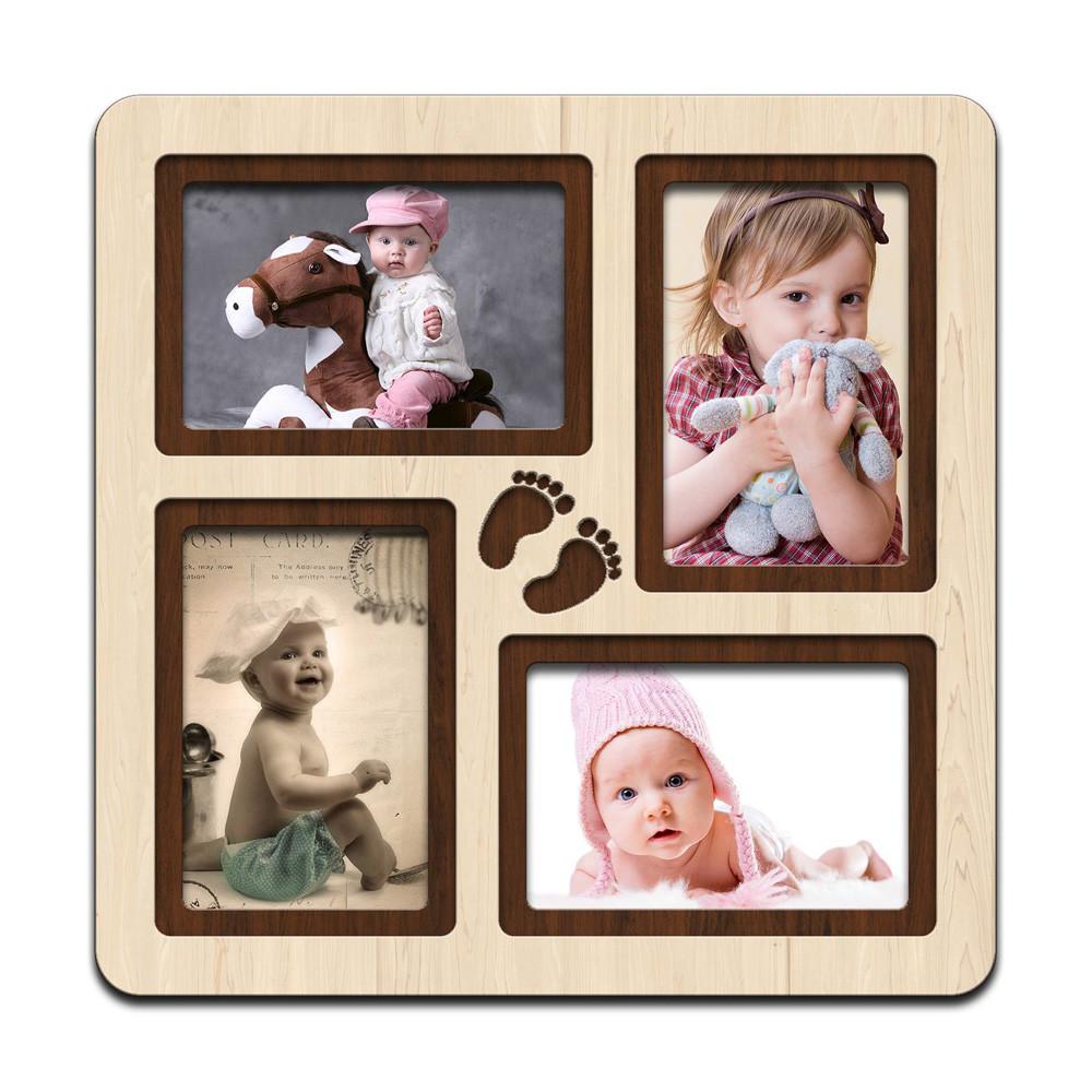 """Фоторамка коллаж  """"Steps"""" 33х33см. рамка для фото малыша, декор и подарок"""