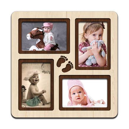 "Фоторамка коллаж  ""Steps"" 33х33см. рамка для фото малыша, декор и подарок, фото 2"