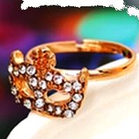 """Кольцо """"Masque """" позолоченное с кристаллами swarovski"""
