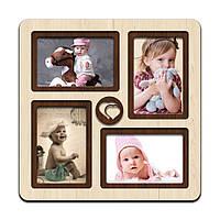 """Фоторамка коллаж  """"Heart"""" 33х33см., рамка для фото малыша, декор и подарок"""