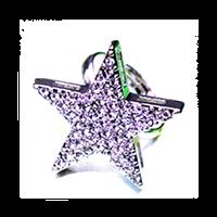 "Кольцо ""Еtoile solitaire"" позолота с кристаллами swarovski"