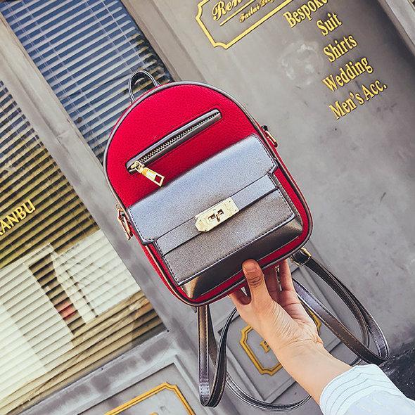 мини рюкзак красный