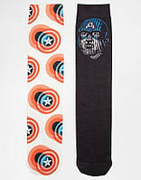 Носки Asos 2 Pack Socks With Capitan America Print