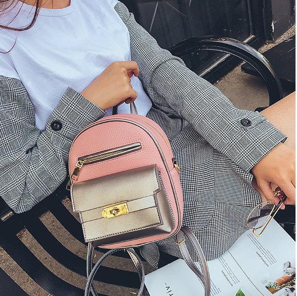 мини рюкзак розовый