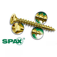 Саморез SPAX  6 х 120 прессшайба неполная белый