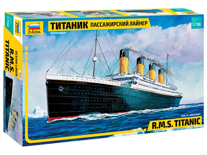 Титаник пассажирский лайнер. Сборная модель корабля R.M.S. Titanic. 1/700 ZVEZDA 9059