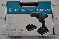 Шуруповерт акумуляторний Kraissmann 1300 ABS 12/2 Li, фото 1