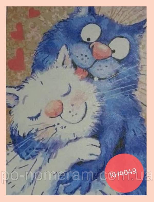 раскраска по номерам Идейка коты
