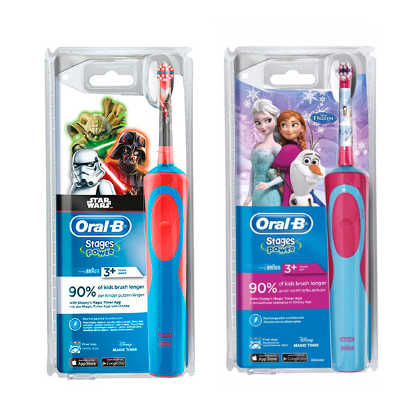 Електрична зубна електрощітка дитяча Braun Oral-B Stages Power D12.513K 6cce5179616a1