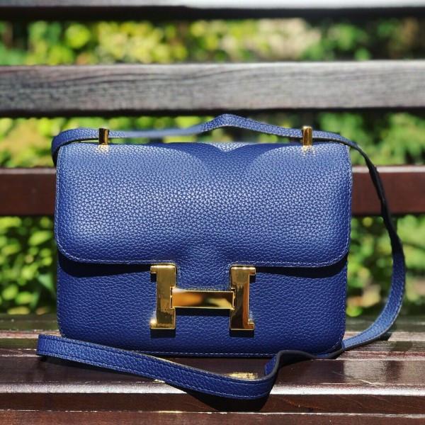 bb8430bdce0b Женская сумочка Hermes (Гермес), синий цвет, цена 1 627 грн., купить ...