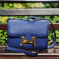 Женская сумочка Hermes (Гермес), синий цвет