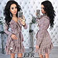"""Стильное платье мини """" Рюш """" Dress Code , фото 1"""