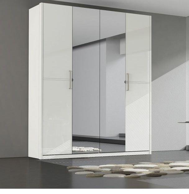 Шкаф 4- дверный AMANDA белый
