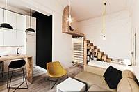 Идея перепланировки квартиры с высоким потолком