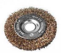 Щетка дисковая из рифленой проволоки (YDM9010) 150х32 мм,  Ø 0,3 для стационарных станков