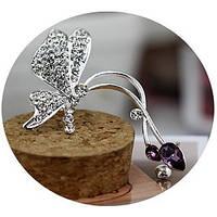 "Каффа ""Peridot silver"" покрытие серебро с кристаллами swarovski"