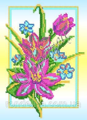 Схема для вышивки бисером «Розовые тюльпаны»