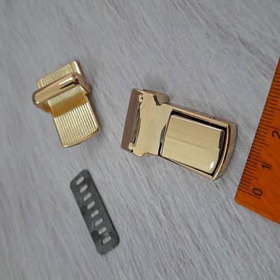 Замок портфельный золото 37х21мм