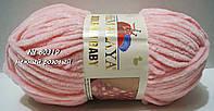 Велюровая (плюшевая) пряжа DOLPHIN BABY № 80319 - нежный розовый